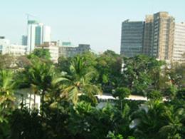 ホテルから見た市内の様子