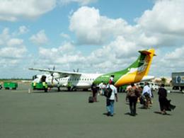 ムワンザ(MWANZA)までの飛行機