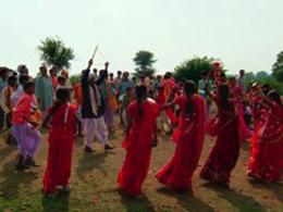 落成式歓迎の踊り