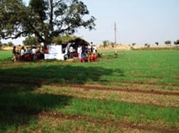 農家の人たちとの意見交換会が開かれる予定だった小屋。